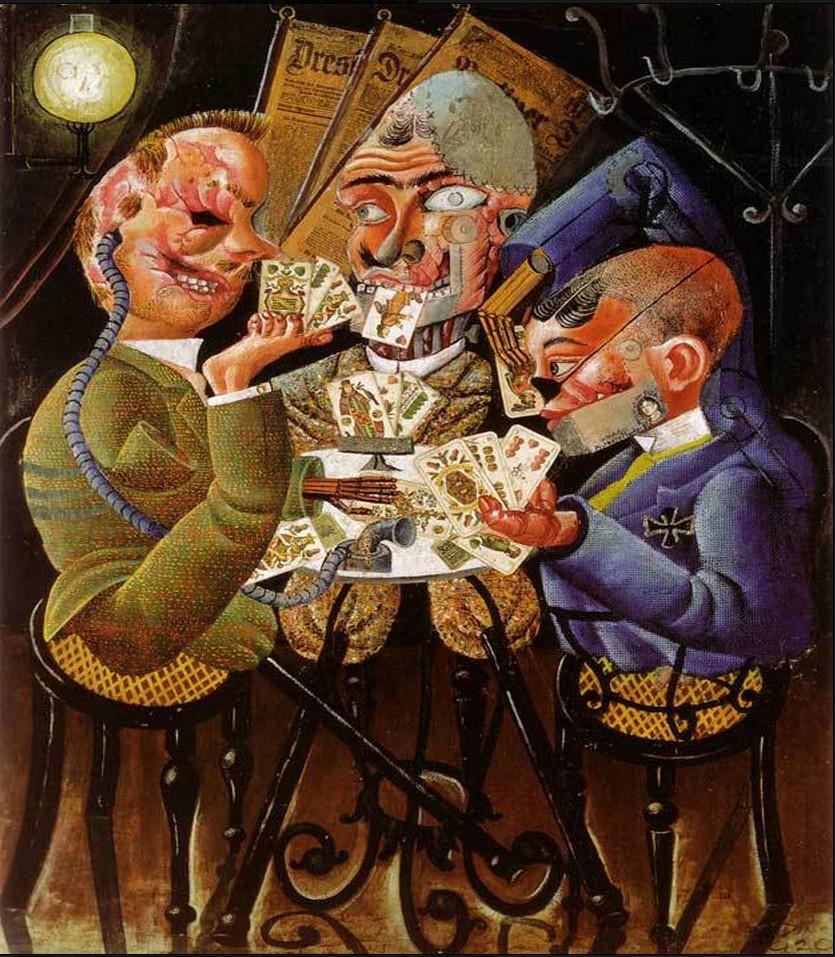 Histoire Des Arts Otto Dix Les Joueurs De Skat College Laurent Mourguet