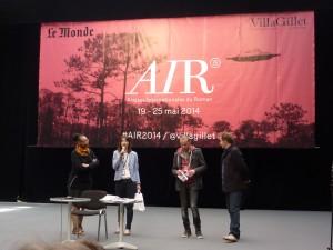 Leonora Miano, Isabelle Vio et Nicolas Bernard (Villa Gillet),Christophe Monnet (Centre Erasme)