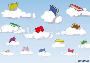 cahiers et nuages image libre de droits